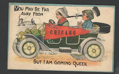 1900s Advertisement Postcard to Buy Nyce Post Card Co, Chicago, Illinois Old CAR