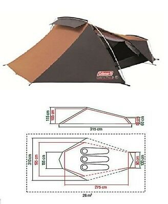 Coleman Cobra 3 pro man berth person camping backpacking hiking tent 4050323246