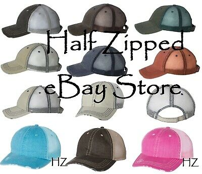 a92f07dcaf4aa Mega Cap Herringbone Unstructured Trucker Cap 6990 Mesh Baseball Hat 7  Colors!