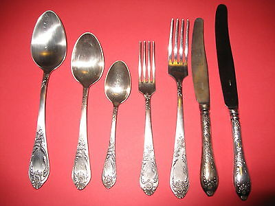 Antique Russian Silver Plated Flatware set of 84 pieces