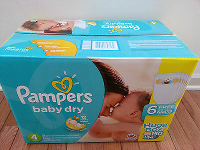 New & Sealed Pampers Baby Dry Diapers Size 3, 4, or 5