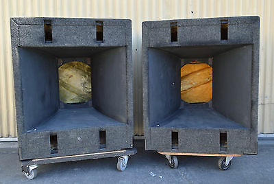 """JBL PRO SERIES LOW FREQ 4560A 15"""" DRIVER HORN CABINET EMPTY PAIR 2220 2205 E140"""