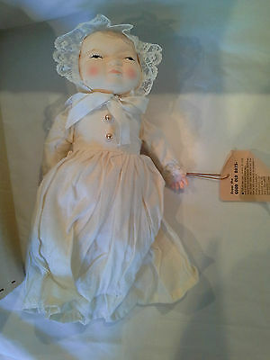Gorgeous Handmade 1970 JAPAN Antique Replica Dressed BYELO Newborn Baby Doll