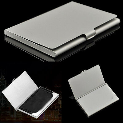 Handy Storage id credit Stainless Steel Name Card Business Card Holder Metal Box