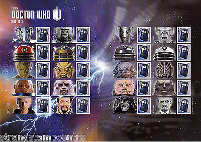 GS-087 Doctor Who 50th Anniversary Generic Smilers Stamp Sheet