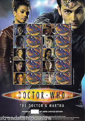 BC-119a - Doctor Who - The Doctor & Martha - Smilers Stamp Sheet (Unnumbered)