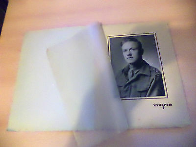 OLD VINTAGE 1940S? LRG MOUNTED BLACK WHITE PHOTO PHOTOGRAPH WW2 SOLDIER PORTRAIT