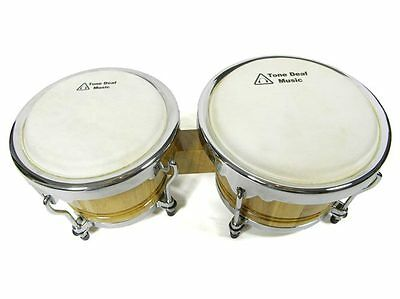 "LARGE PROFESSIONAL BONGO DRUMS bongos latin percussion drum 7"" macho 9"" hembra"