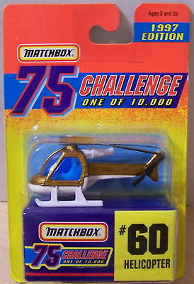 ctd-Matchbox 1997 Gold 75 Challenge #060 Helicopter/7