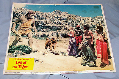 Original Lobby Card Sinbad and the Eye of the Tiger Old Vintage 70s Movie Poster