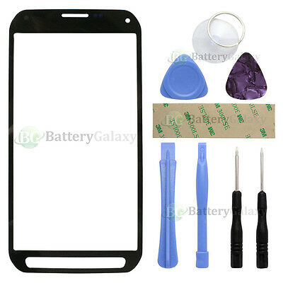 Black LCD Front Screen Glass Replacement Lens for Samsung Galaxy S5 Active+Tools