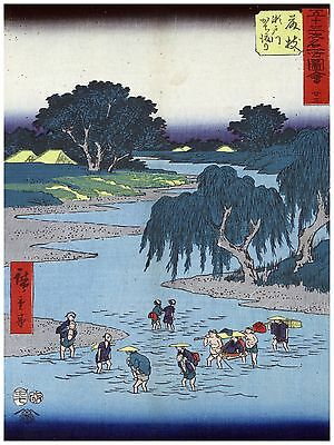 Oriental Quality POSTER Paper or Cotton Canvas.Home Decor.Asian art.River.3807