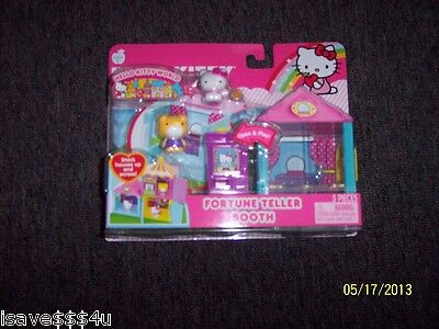 NEW SANRIO HELLO KITTY WORLD FORTUNE TELLER BOOTH 5 PC PLAYSET INCLUDES FIGURES