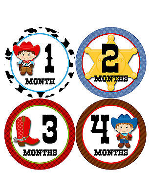 Baby Boy Monthly Milestone Age Stickers Style #341