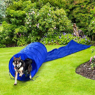 PawHut 16.4ft Training Dog Tunnel Agility Training Chute Obedience Blue