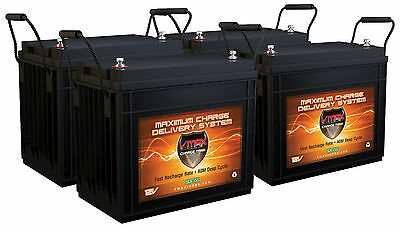 QTY4 SLR155 Solar Wind Energy 12V Each AGM Battery HI Capacity Maint Free 620AH