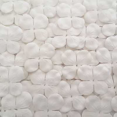 1000 White Mini Hydrangea Paper Flowers Die Cut Scrapbook Craft Supply P9-15 H2