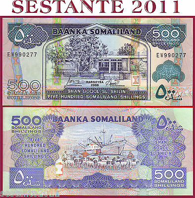 SOMALILAND - 500 SHILLINGS 2006   - P 6f     - FDS / UNC