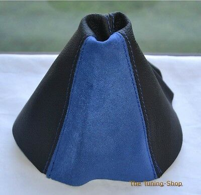 For Vauxhall Opel Astra Mk5 H Gear Stick Gaiter Cover Black Leather Blue Suede