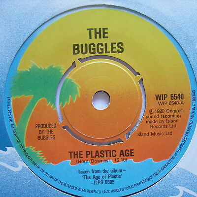 "BUGGLES - The Plastic Age - Excellent Condition 7"" Single Island WIP 6540"