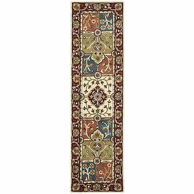 Safavieh Handmade Heritage Timeless Traditional Multi/ Red Wool Rug (2'3 x 10')