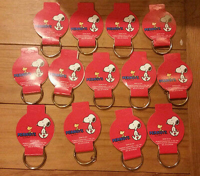 Lot of 13  Vintage Peanuts Snoopy Woodstock Starline Key Chain - 1958-1965