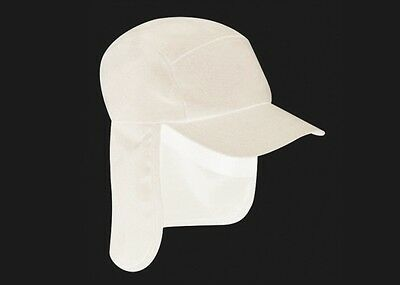 White Legionnaire Sun Neck Cover Snapback Cap Sports Hat - PROTECT YA NECK