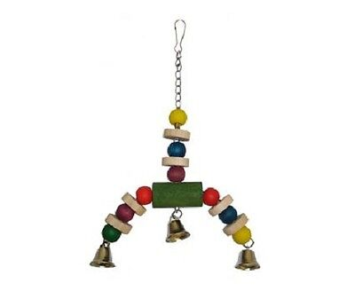 Happy Pet Jingler  - small bird  wood and rope toy - budgie,  lovebird etc