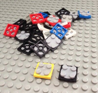 Lego Lot Of 30 Spinner Parts / Turntable / 2x2 Small / Mixed Colors
