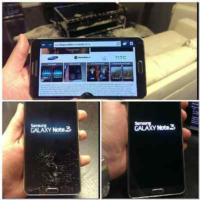 Samsung Galaxy Note 3  Cracked Screen Glass Repair Replacement Mail In Service