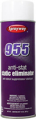 NEW- Package 6 cans of Sprayway #955 Anti-Static Spray