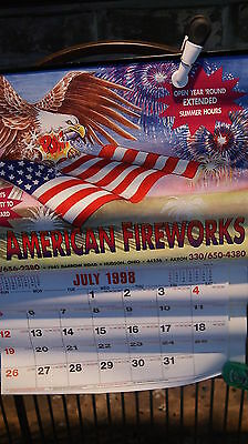 1998 AMERICAN FIREWORKS Poster/Calendar - Cleveland Akron Hudson Ohio - MINT!