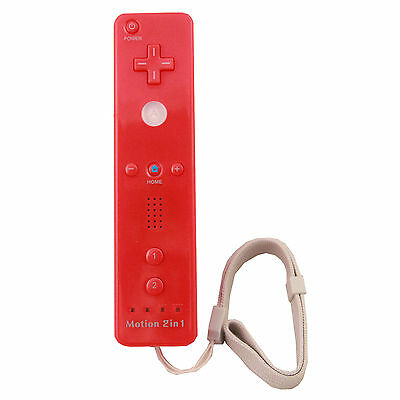 NEW Remote Controller Built-in Motion Plus For Wii Red