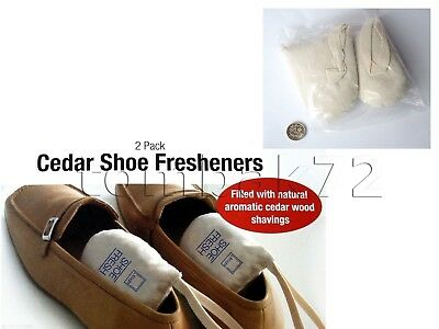 2pk Smelly Sweaty SHOE Natural FRESHENERS Cedar Wood Chips Shavings Inserts Bags