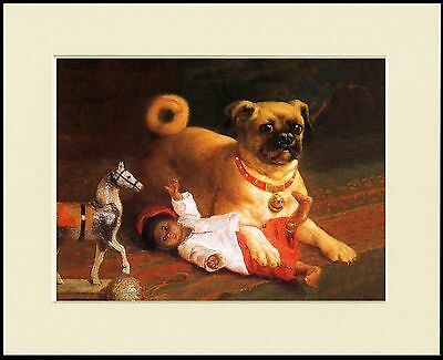 Pug Naughty Dog And Toys Lovely Little Dog Print