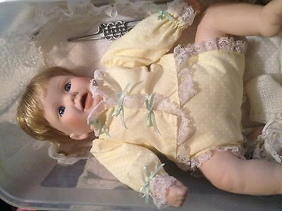 porcelain baby doll with soft main body