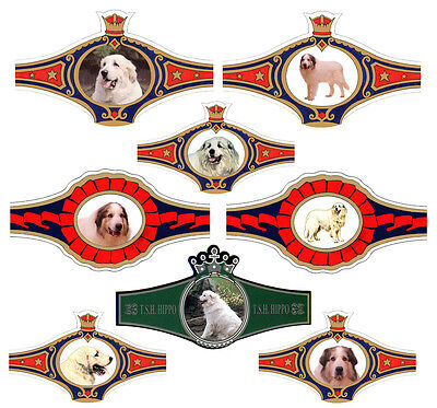 PYRENEAN MOUNTAIN DOG GREAT PYRENEES SELECTION 8 COLLECTABLE WRAPPERS FROM 1990