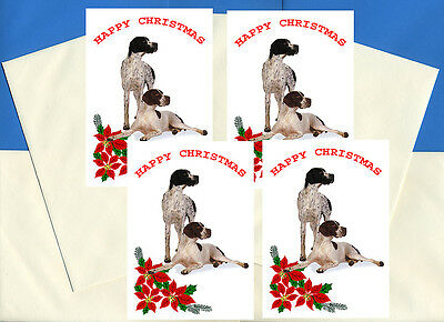 Pointer Pack Of 4 Cards Dog Print Greeting Christmas Cards
