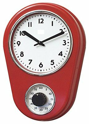 New!!!! Retro Kitchen Timer Wall Clock, Red. By Lily's Home Free shipping!!