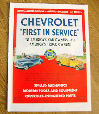1945 Chevrolet Ad  First in Service 1945 Texaco Dealers Gasoline Ad