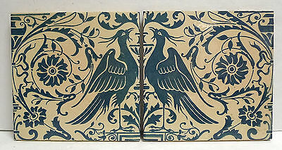 Maw & Co. Antique Tile Set with Birds 1800's England