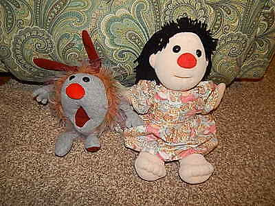 """Big Comfy Couch MOLLY Plush Stuffed Doll 15""""AND Dust Bunny EUC"""