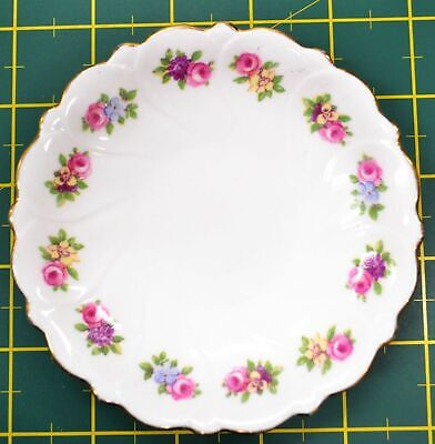 FLORAL (Adderley) Pin Dish / Saucer c1930-40's Made in Staffordshire England