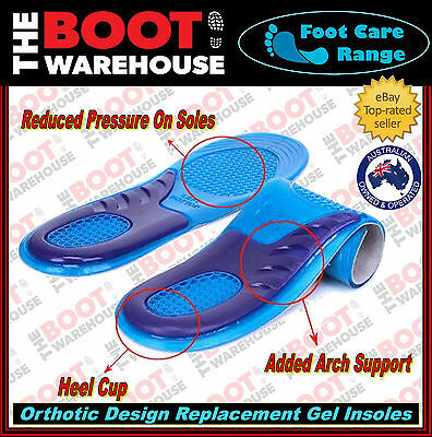 Gel Insoles. High Quality. Arch Support. Foot Massaging. Sizes For Men & Women