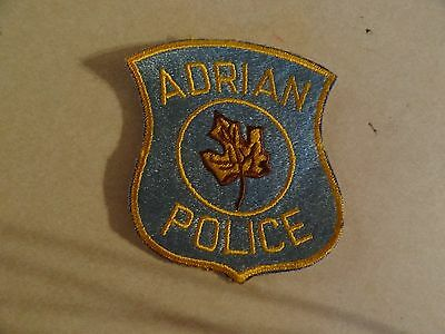 Law Enforcement Patch Adrian Police