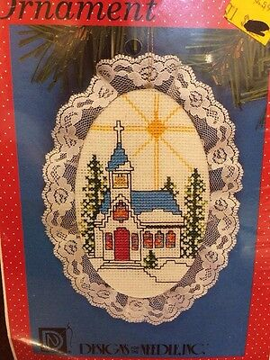 """Designs for the Needle Lace Ornament Counted Cross Stitch Kit """"Church"""""""