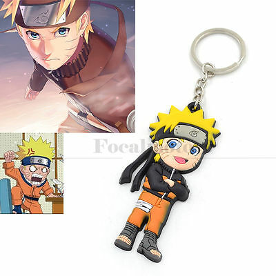 Anime Naruto Uzumaki Keychain  Key Rings Cosplay Key Chain Unisex Charm Gift 1PC