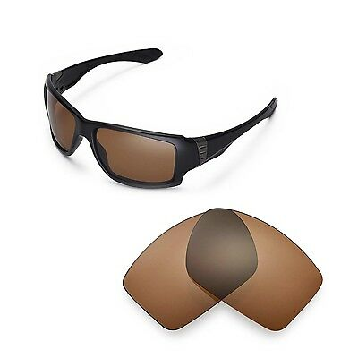 New Walleva Polarized Brown Replacement Lenses For Oakley Big Taco Sunglasses
