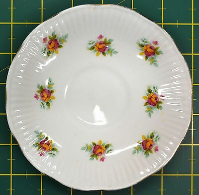 Elizabethan Fine Bone China Hand Decorated Saucer, Made in England, 145mm Dia