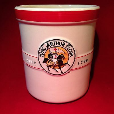 "6"" King Arthur Flour Crock or Utensil Holder - 5"" Diameter"